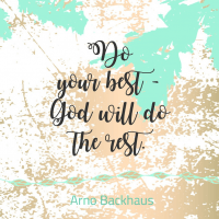 Magnet: Do your best - God will do the rest